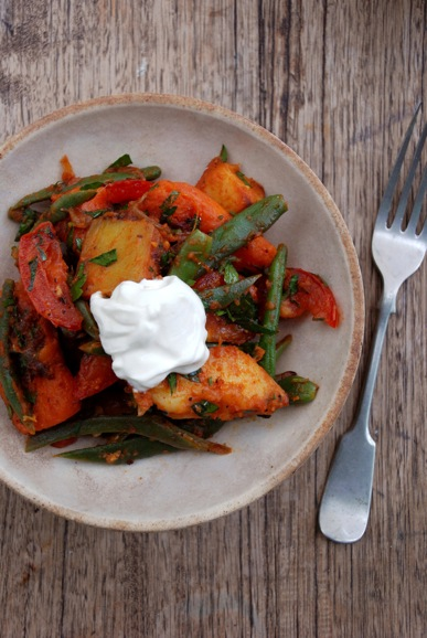 Sweet potato, green bean and smoked paprika salad