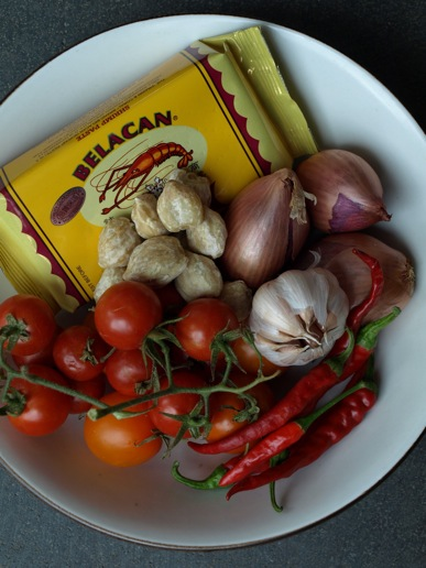 ingredients for tomato sambal