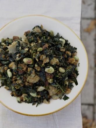 kale and broad bean salad 2