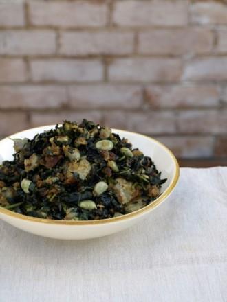 kale and broad bean salad 3