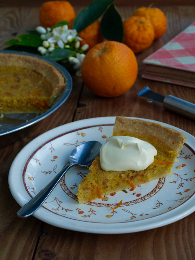 orange and breadcrumb pie