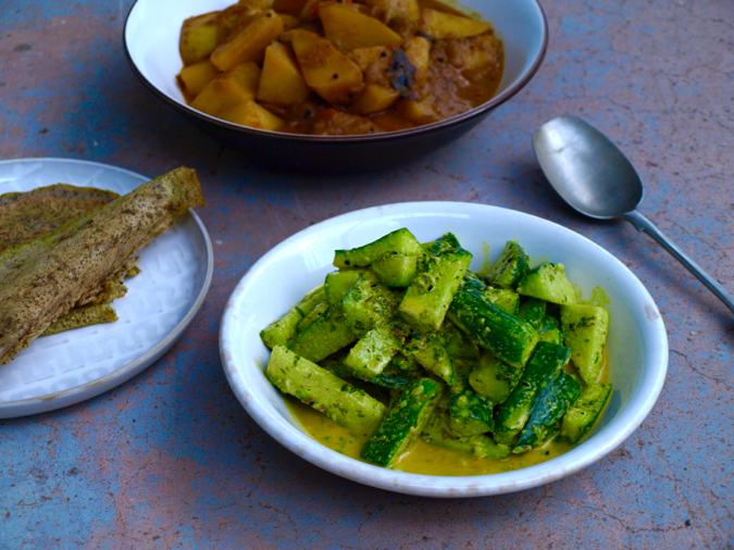 Nepalese cucumber salad with sesame and spices