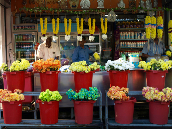 Shop selling flowers in Little India, Georgetown, Penang, Malaysia