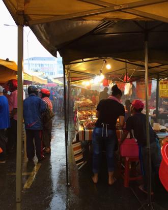 Night market near Setiawangsa in KL, Malaysia