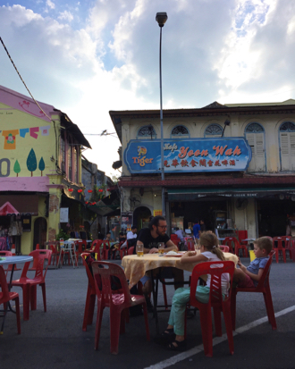 Dining on the streets of Ipoh, Malaysia