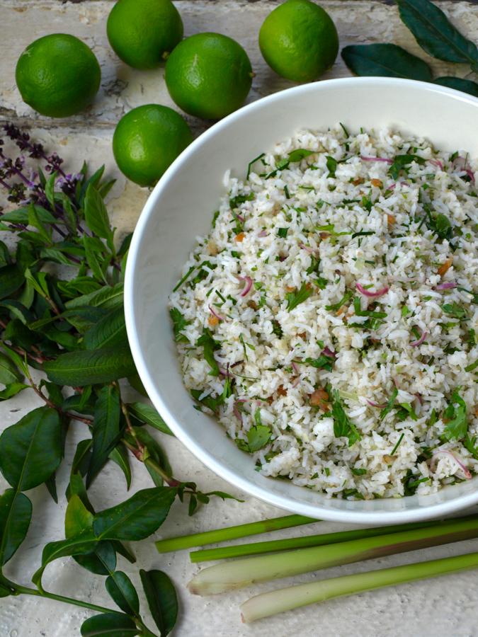 Nasi ulam (Malaysian herb rice)