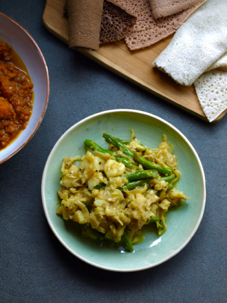 Atakilt - Ethiopian turmeric and ginger cabbage with potato and beans